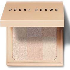 Bobbi Brown Nude Finish Illuminating Powder ($50) ❤ liked on Polyvore featuring beauty products, makeup, face makeup, face powder, filler, porcelain, bobbi brown cosmetics and illuminating face powder