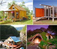 Build Your Own Eco House Cheap: 10 DIY Inspirations Earthbag, cob, timber frame, shipping container