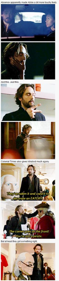 Sleepy Hollow - 3x01 I, Witness [gifset] - Abbie Mills and Ichabod Crane - the hand thing kills me XD