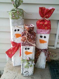 Wooden Snow Man Craft