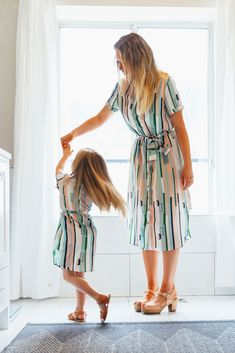 retro pastel striped mommy and me matching spring dresses by ivy city co. Source by autterpop Dresses Mommy And Me Dresses, Mother Daughter Dresses Matching, Mother Daughter Fashion, Mommy And Me Outfits, Dresses Kids Girl, Girl Outfits, Mommy Daughter Dresses, Mom Daughter, Toddler Fashion