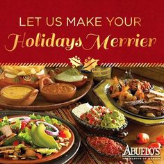 The holidays will be here before you know it! Plan your holiday party now and let Abuelo's handle the details.