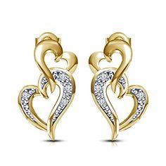 Dangle Heart Earrings Towtone Gold Over alloy Round White... https://www.amazon.com/dp/B06XSMC8H5/ref=cm_sw_r_pi_dp_x_81u1yb5KFQXSE