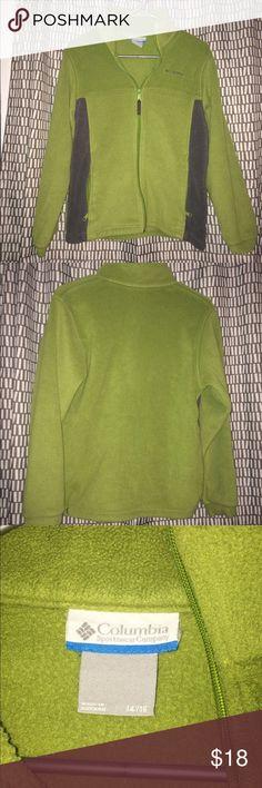 Green Columbia fleece jacket size 12/14 L Columbia green fleece jacket, two pockets and no damage! Columbia Jackets & Coats
