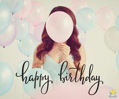 Happy Birthday image with balloons. Happy Birthday Flowers Wishes, Cool Happy Birthday Images, Happy Birthday Wishes For A Friend, Happy Birthday Kids, Birthday Wishes And Images, Best Birthday Wishes, Happy Birthday Messages, Special Birthday, Balloons