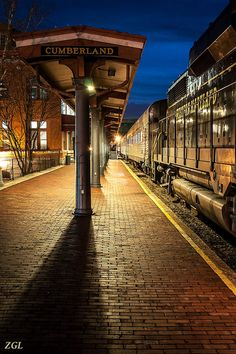 CUMBERLAND TRAIN STATION | CUMBERLAND | MARYLAND | USA : *Western Maryland Scenic Railroad*