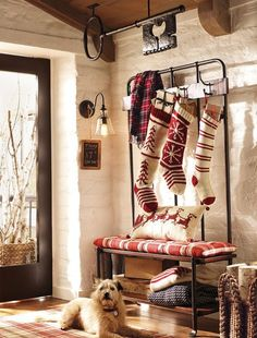Fabulous Idea for a Mudroom over the #Holidays