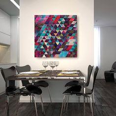 ". ""Life Colors"" no acervo da @urbanarts  . #urbanarts #brasil #art #livingroom #sala #colors #decor #decoration #interior #interiordesign #casacor #paint #instadecor #casa #style #instacool #dekor #love #geometria #colors #abstract by franciscovalle_art"