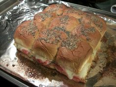 Cook with Sara: Oven Baked Ham and Swiss Sandwiches