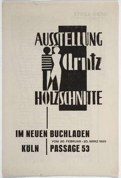 Joost Schmidt. Ausstellung Arntz Holzchnitte. 1925
