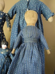 cloth doll dressed in early calico