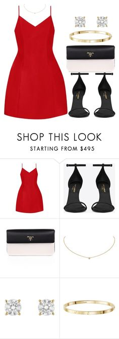 """""""Untitled #14478"""" by vany-alvarado ❤ liked on Polyvore featuring Mestiza, Yves Saint Laurent, Prada and Cartier"""