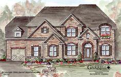 Garrell Associates,Inc.  Brickmoore Manor House Plan # 04312, Front Elevation, Traditional Style House Plans, European Manor Style House Plans ( 4,073 s.f.) Design by Michael W. Garrell