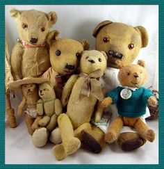 The Old Bear Company (UK) specialising in antique teddy bears early to including early Steiff, Bing, Chad Valley, Merrythought and many more. Antique Teddy Bears, Vintage Toys, Old Things, Antiques, Friends, Animals, Antiquities, Animales, Antique Toys
