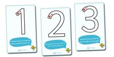 Number Formation Rhyme Display Posters