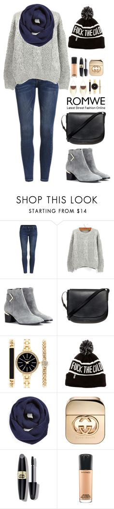 """""""Romwe 2"""" by amra-f ❤ liked on Polyvore featuring Nicholas Kirkwood, Mansur Gavriel, Style & Co., BP., Gucci, Max Factor and MAC Cosmetics"""