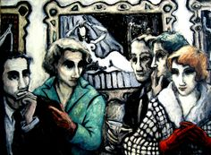 """Anonymous exposure. Olympia"" oil on lienzo.120 x 92 cm"