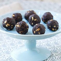48-Calorie Chocolate-Peanut Butter Balls | MyRecipes.com