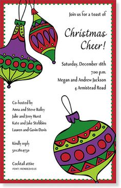 Free Ornament Exchange Invitations Invite Friends Christmas