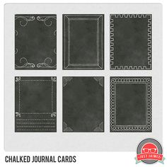 freebie chalked journal cards