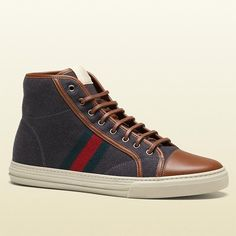 Felt High Top Sneakers by Gucci