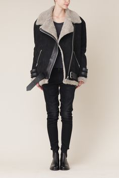 Acne Oversized Shearling Jacket. Eek!