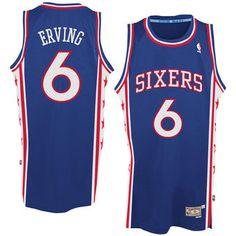 8717d02ed Mens Philadelphia 76ers Julius Erving adidas Royal Blue Hardwood Classics Swingman  Jersey Basketball Uniforms