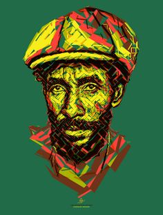 """Lee """"Scratch"""" Perry: The upsetter (by tsevis) Portrait of Lee """"Scratch"""" Perry for the Reggae Hall of Fame foundation."""