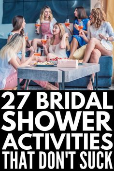 27 Bridal Shower Games and Activities that Don't Suck - 27 Bridal Shower Activities that Aren't Lame Bridal Shower Crafts, Wedding Shower Activities, Bridal Shower Games Prizes, Bridal Shower Gifts For Bride, Simple Bridal Shower, Bridal Bingo, Wedding Shower Games, Bridal Shower Party, Bridal Shower Decorations