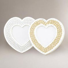 One of my favorite discoveries at WorldMarket.com: Heart Mosaic Eva Frame, Set of 2