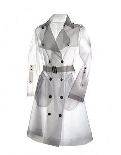 Biodegradable Designer Raincoats available from TerraNewYork. Baby Raincoat, Hooded Raincoat, Designer Raincoats, White Trench Coat, Trench Coats, Plastic Raincoat, Raincoats For Women, Rain Wear, Outfit Posts