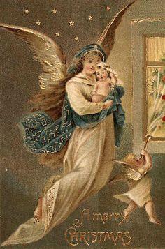 .Kerst Engel vintage kerst-postkaart lb xxx.