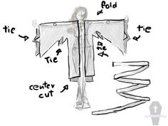 Detailed description of creating a light summer kimono. Perfect beachwear for witches and stregas.