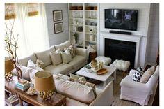 Corner Sofa Living Room Small Spaces, Contemporary Living Room Furniture, Rustic Living Room Furniture, Living Room Furniture Arrangement, Small Living Rooms, Fireplace Furniture, Arranging Furniture, Furniture Decor, Living Room Sectional