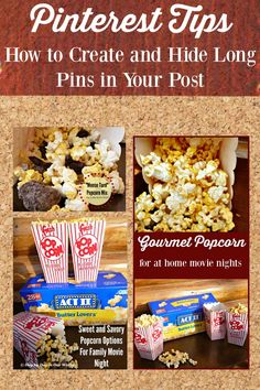 Increase your visibility on Pinterest when you create and hide long pins in your post.