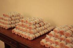 Ao invés de bem casados, bolo de rolo! #boloderolo #casamento #nordestino