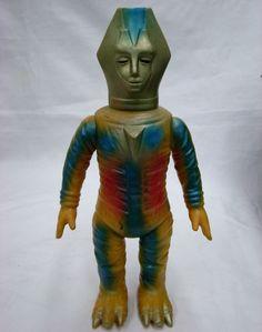 Bullmark Gold Satan Mirrorman vintage monster kaiju soft vinyl figure toy sofubi #Bullmark