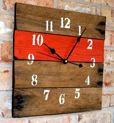 Hand Made Wood Clocks | ... wooden clocks from reclaimed barnwood he gathers from his farm land