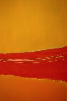 Possibly a detail of Rothko's No 5 / No 22, but doesn't quite match. Maybe another artist's homage to Rothko?