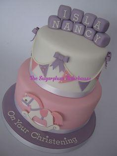 2 Tier Rocking Horse Christening Cake