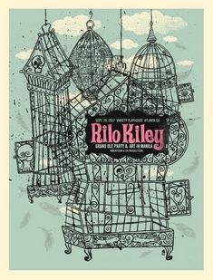 Rilo Kiley bird cage poster... would love to have this on my wall!