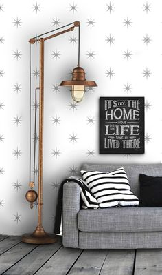 Star Pattern Self Adhesive Vinyl Wallpaper D012 by Livettes