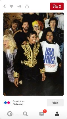 Michael; We Are The World