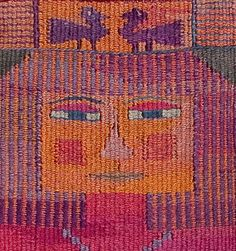 Happy Couple. Tapestry Weaving (detail) - Kirsten Glasbrook
