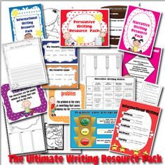 The Lesson Plan Diva: The Ultimate Writing Resource Pack- (Narrative, Informational, and Persuasive) FREEBIE