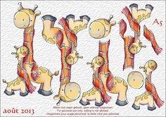 planche perso - A5 - 3D giraf - faite pour http://petitemamie.centerblog.net/