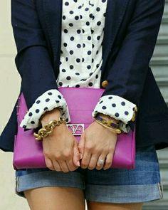 Via the ruffled snob.  Polka dot cuffs!  Too cute!