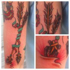 My arrows done by Zach Westcott at Hero Tattoo