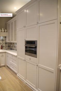 Kitchen design in Amsterdam, high cabinets for storage