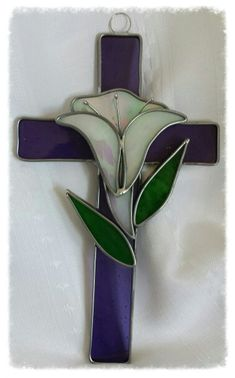 Stained glass cross #StainedGlassCross